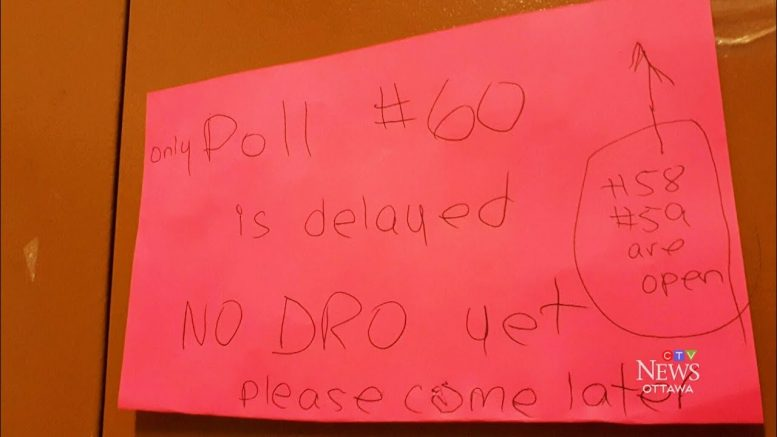 Some voters in Ottawa unable to case ballots because polling station workers show up late 1