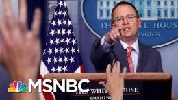 White House Brazenly Admits, Then Walks Back Ukraine Quid Pro Quo - The Day That Was | MSNBC 7