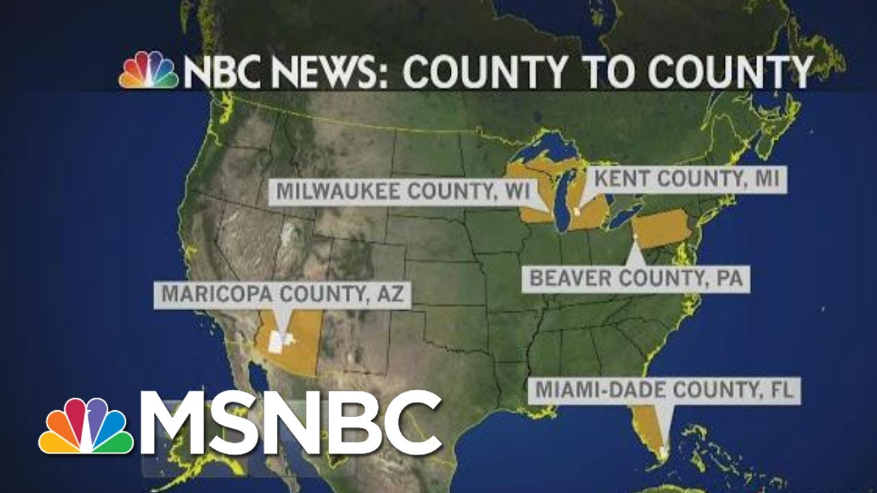 County To County: 5 Counties, 5 Battleground States And How They Impact 2020 | MTP Daily | MSNBC 9