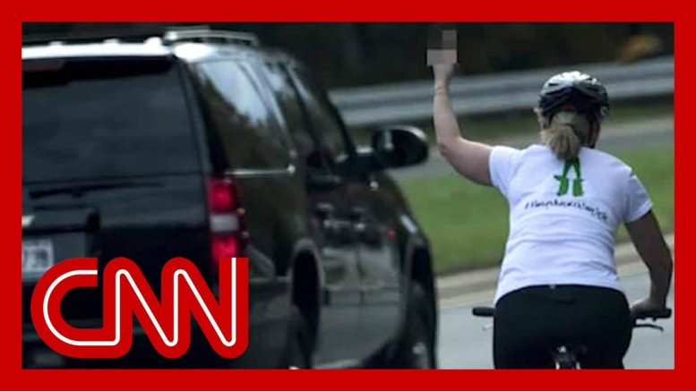 Woman who flipped off Trump motorcade wins election 1