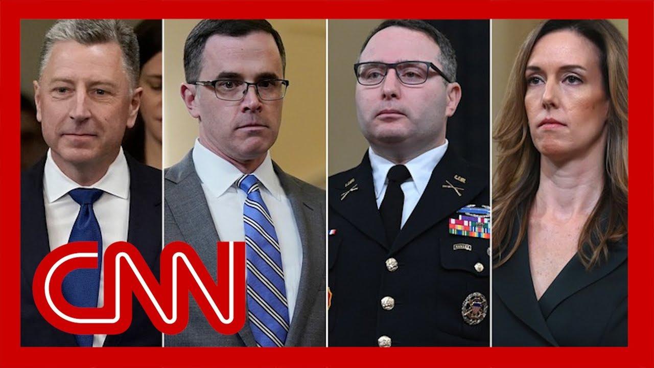 Trump impeachment hearings: Vindman, Williams, Volker and Morrison 3