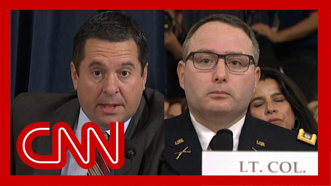 Vindman corrects Nunes during impeachment hearing 2