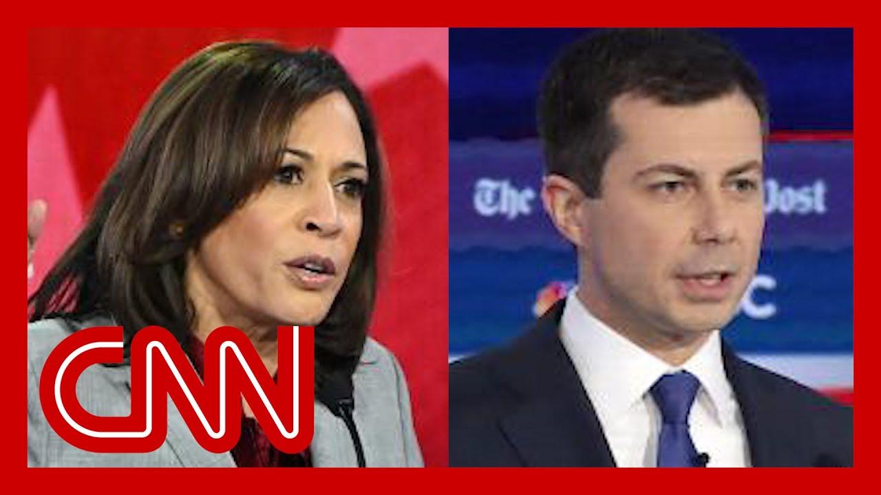 Kamala Harris and Pete Buttigieg weigh in on race during debate 9
