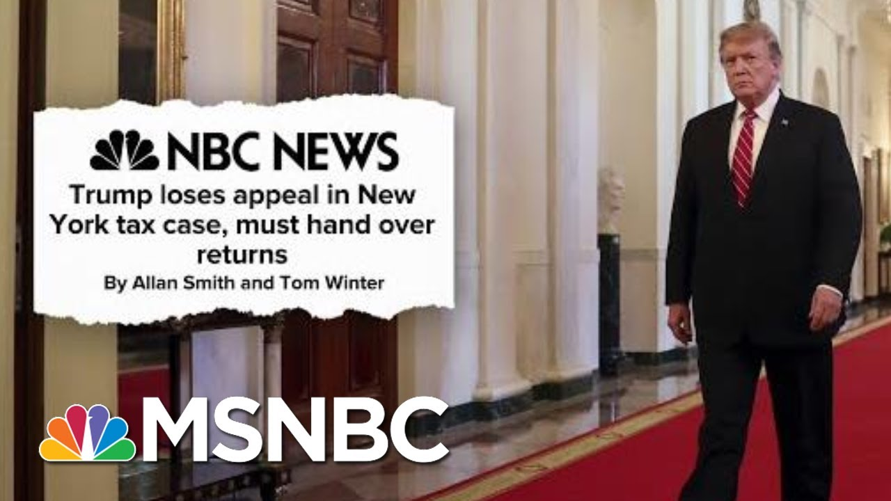 President Donald Trump Buried Under A Mountain Of Ongoing Legal Woes | Deadline | MSNBC 4