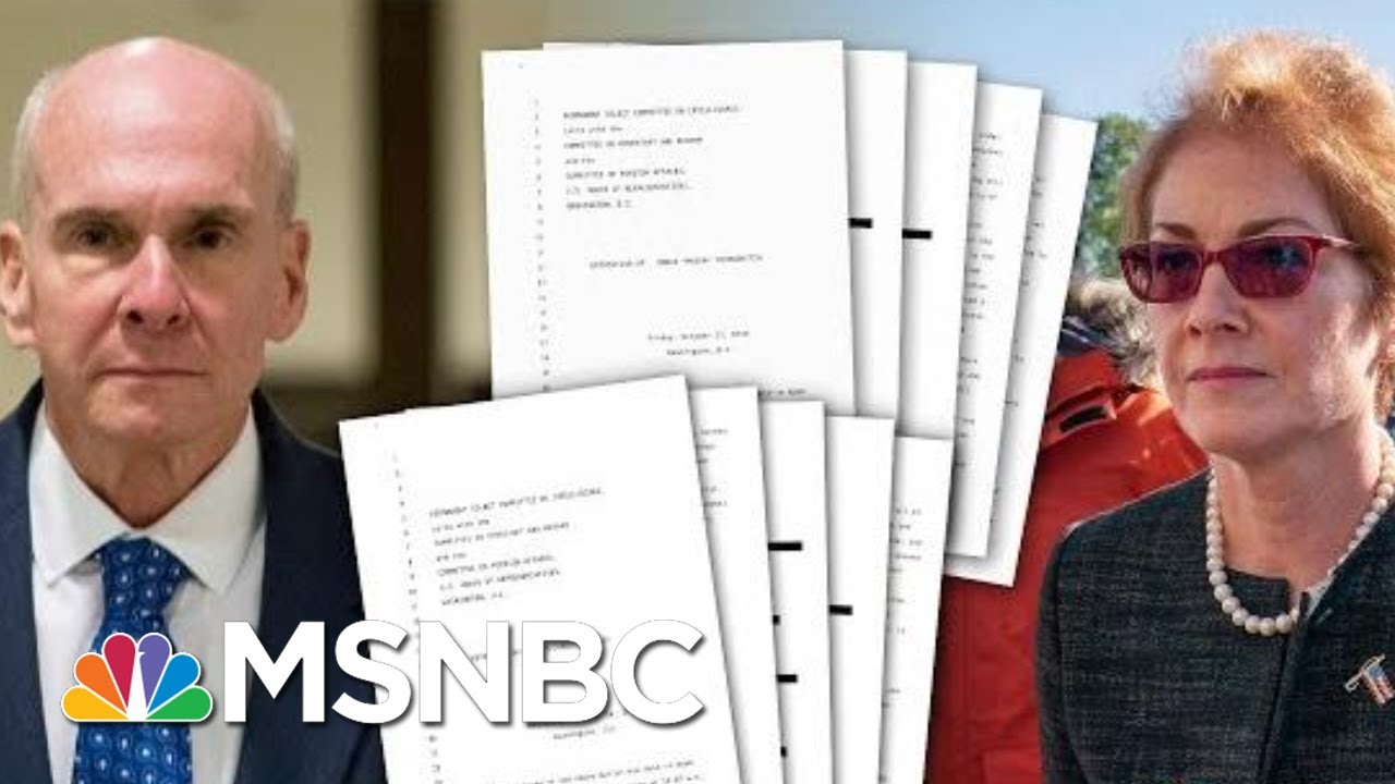The First Look At The Transcripts From Witnesses In The Impeachment Investigation | Deadline | MSNBC 6