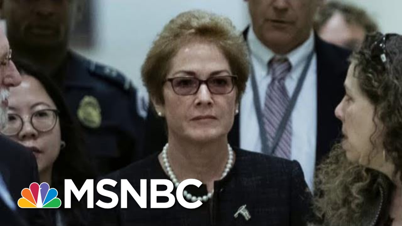 Impeachment Witness Lays Out White House Campaign Against Her | The 11th Hour | MSNBC 10