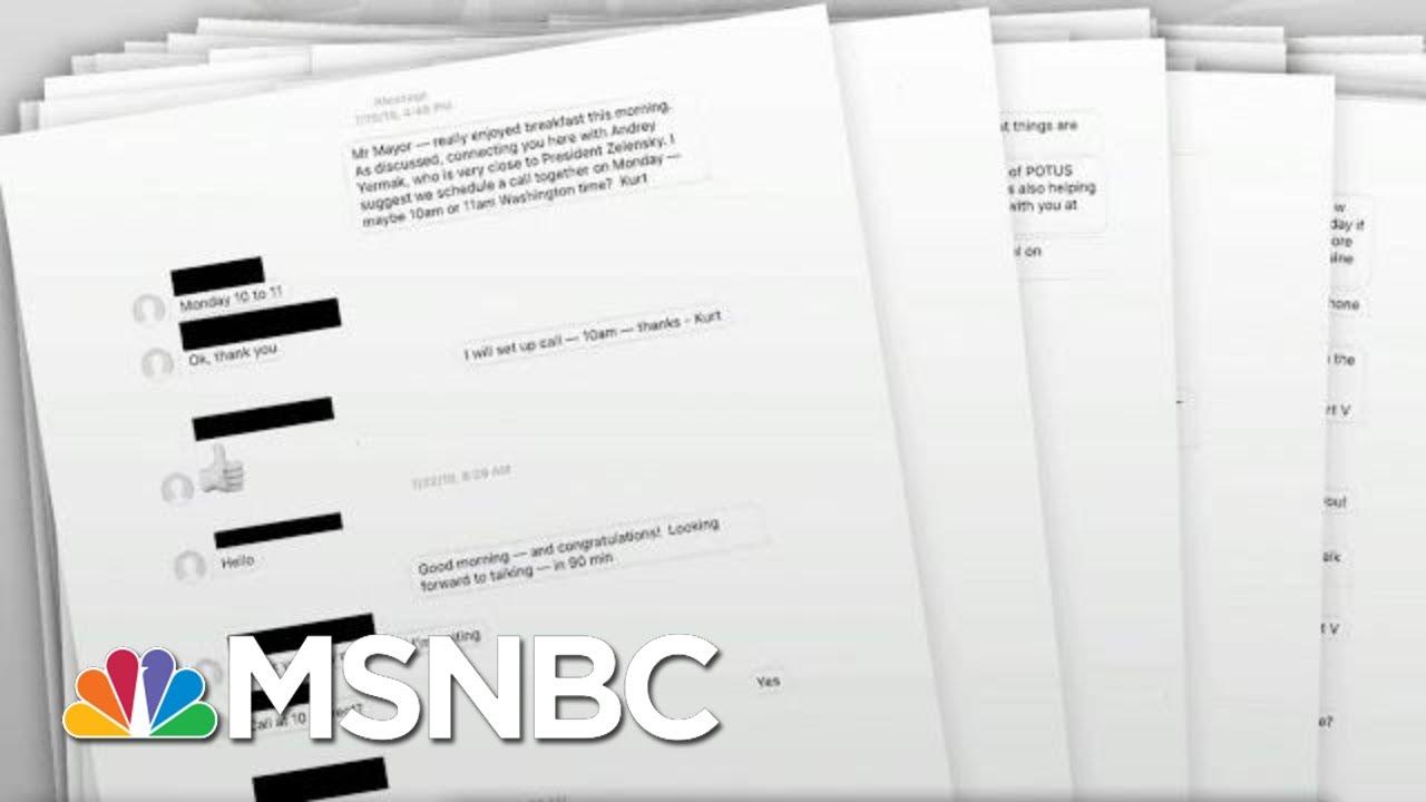 Diplomats' Texts Lay Out Trump Ukraine Scheme In Stark Detail | Rachel Maddow | MSNBC 4