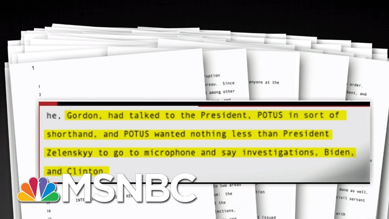 Official Says Trump's Ukraine Conduct Was 'Injurious To The Rule Of Law'- The Day That Was | MSNBC 3