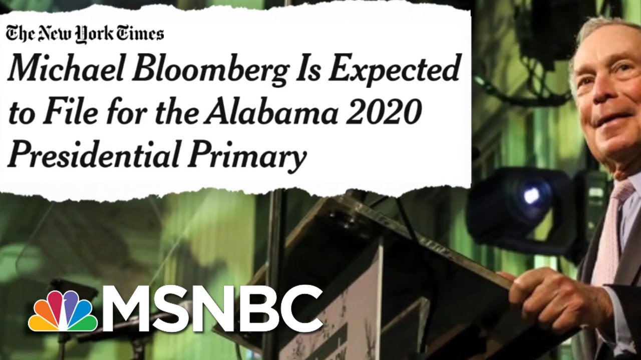 Michael Bloomberg Considering 2020 Run As Dem | The Beat With Ari Melber | MSNBC 2