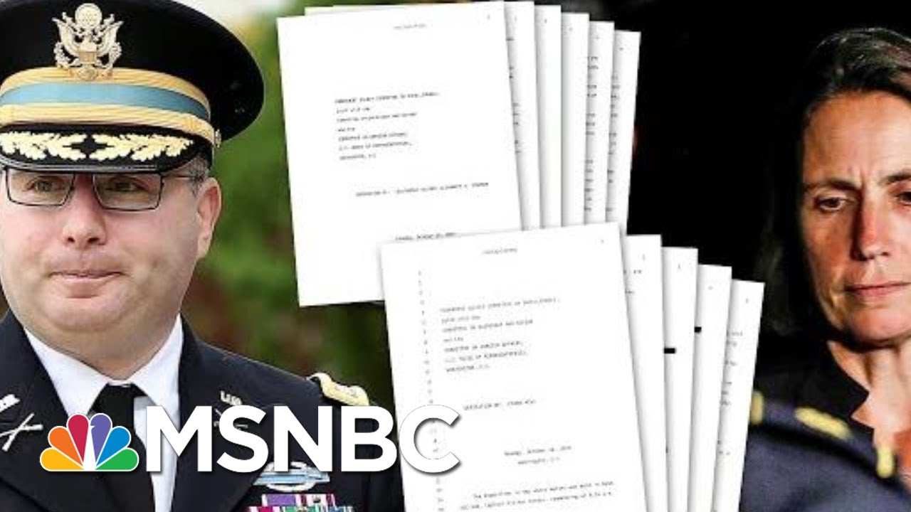Transcripts Released From Witnesses To Key Flashpoints Of Ukraine Scandal | Deadline | MSNBC 5
