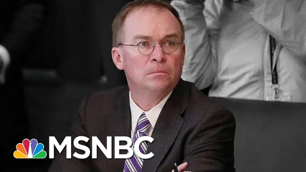 See New Impeachment Evidence Cornering Trump's Top Aide Mulvaney | The Beat With Ari Melber | MSNBC 9