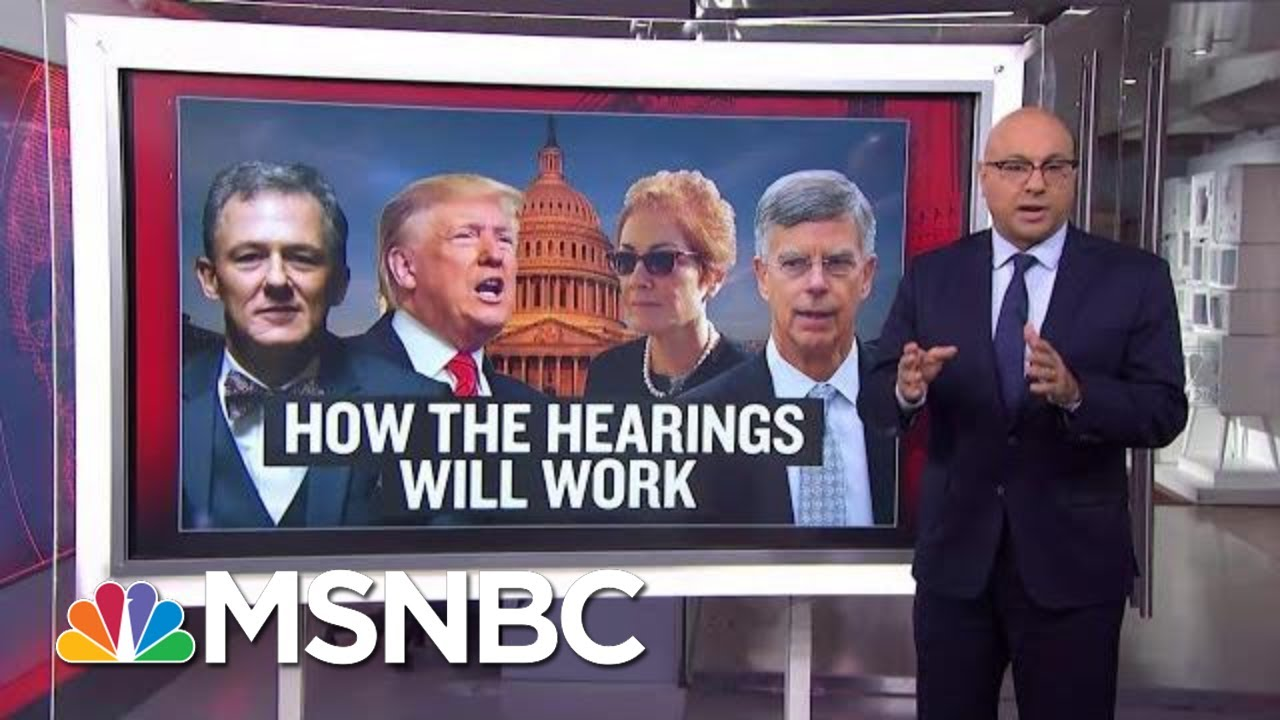 How Do Public Impeachment Hearings Work?   Velshi & Ruhle   MSNBC 2