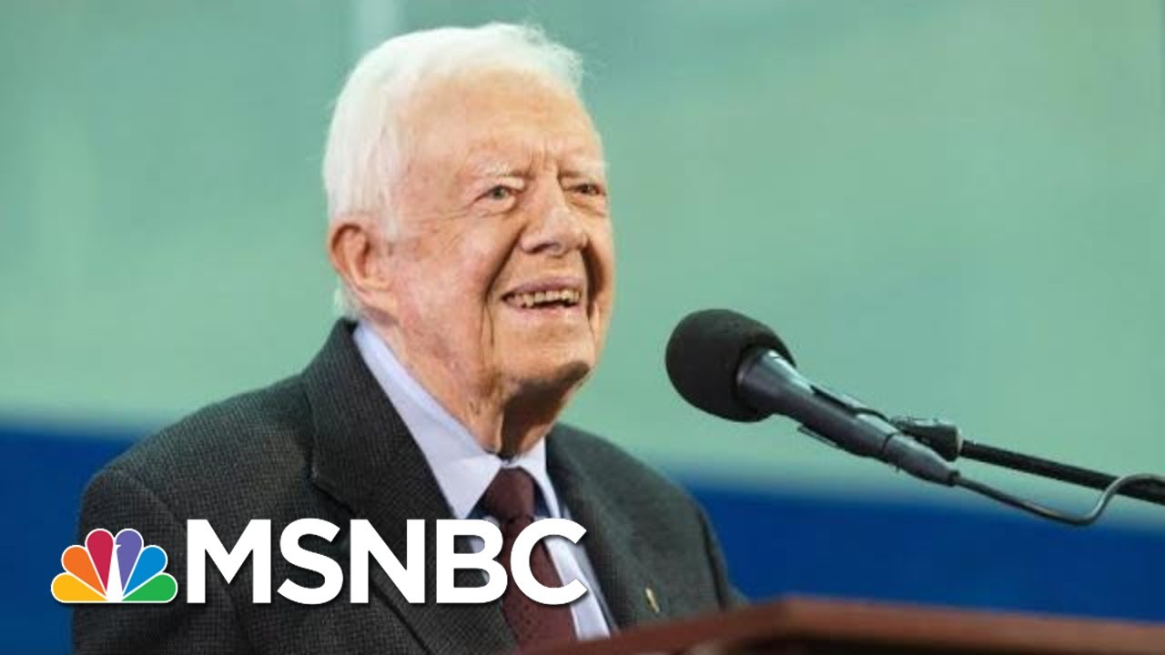 Jimmy Carter Recovering At Georgia Hospital After Emergency Brain Surgery | Hallie Jackson | MSNBC 3