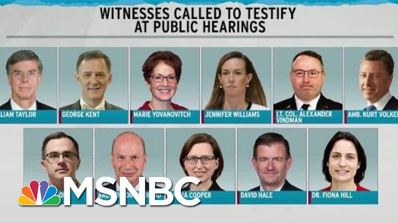 Schedule Set For Public Hearings In Trump Impeachment | Rachel Maddow | MSNBC 9