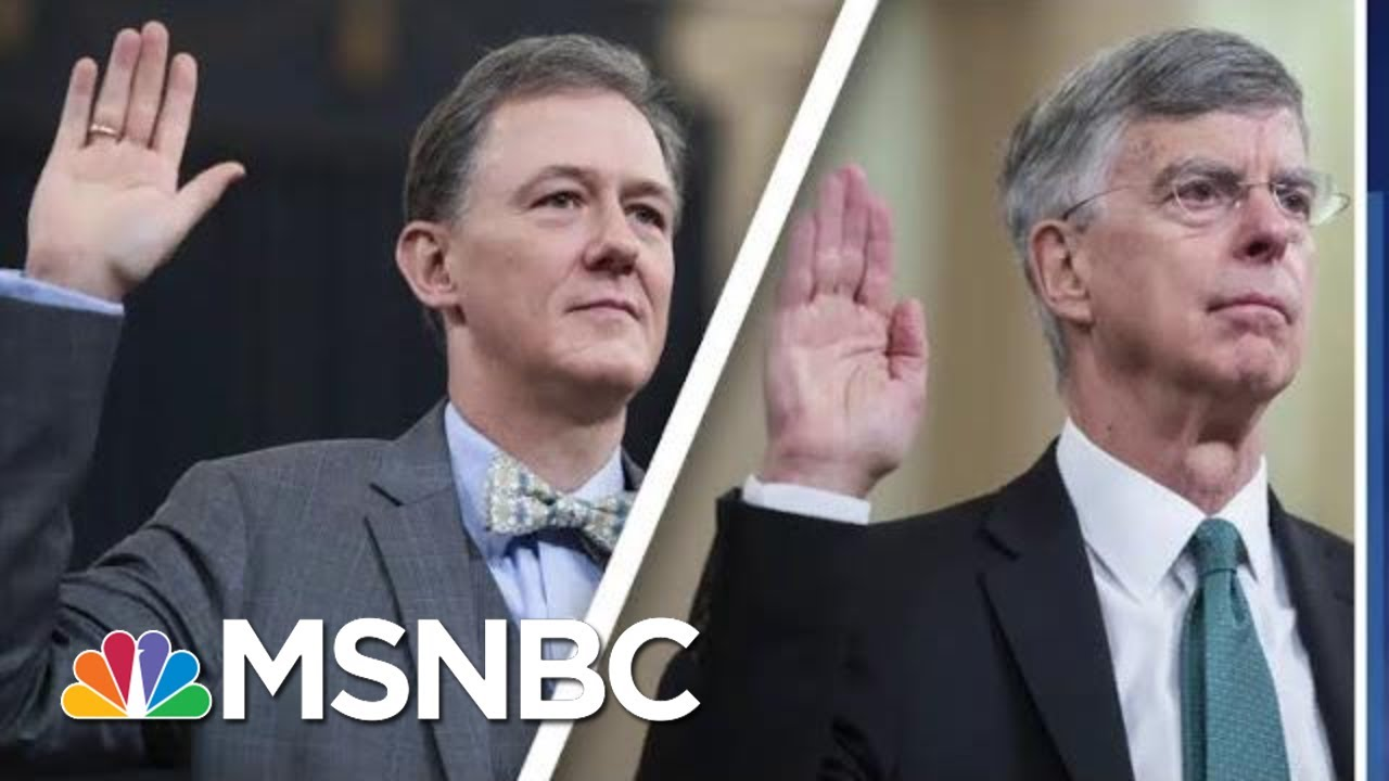 Impeachment Day 1: Bricks Of Bribery Evidence Pile Up Against Trump | MSNBC 5