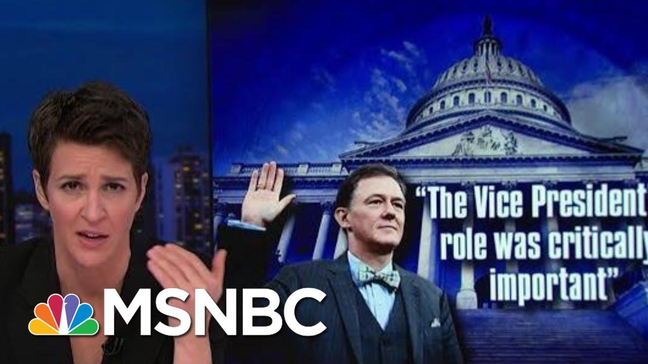 First Public Impeachment Hearing Presents Triple Threat To Trump | Rachel Maddow | MSNBC 9