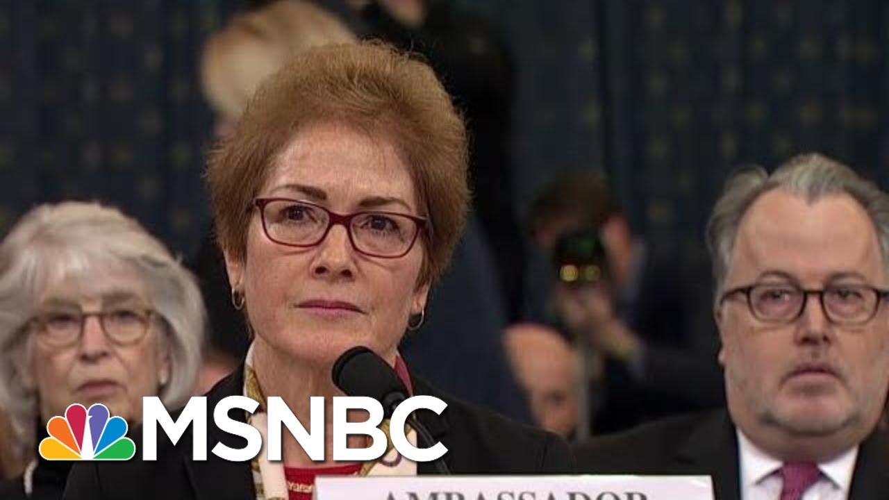 'Very Intimidating': Yovanovitch Responds To Trump's Mid-Testimony Twitter Attacks   MSNBC 9
