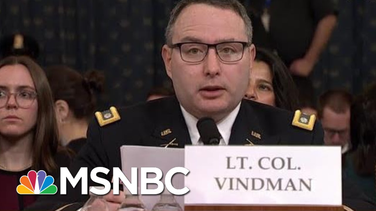 Vindman: Dad Made Right Choice To Leave Soviet Union. I Will Be Fine For Telling The Truth. | MSNBC 4