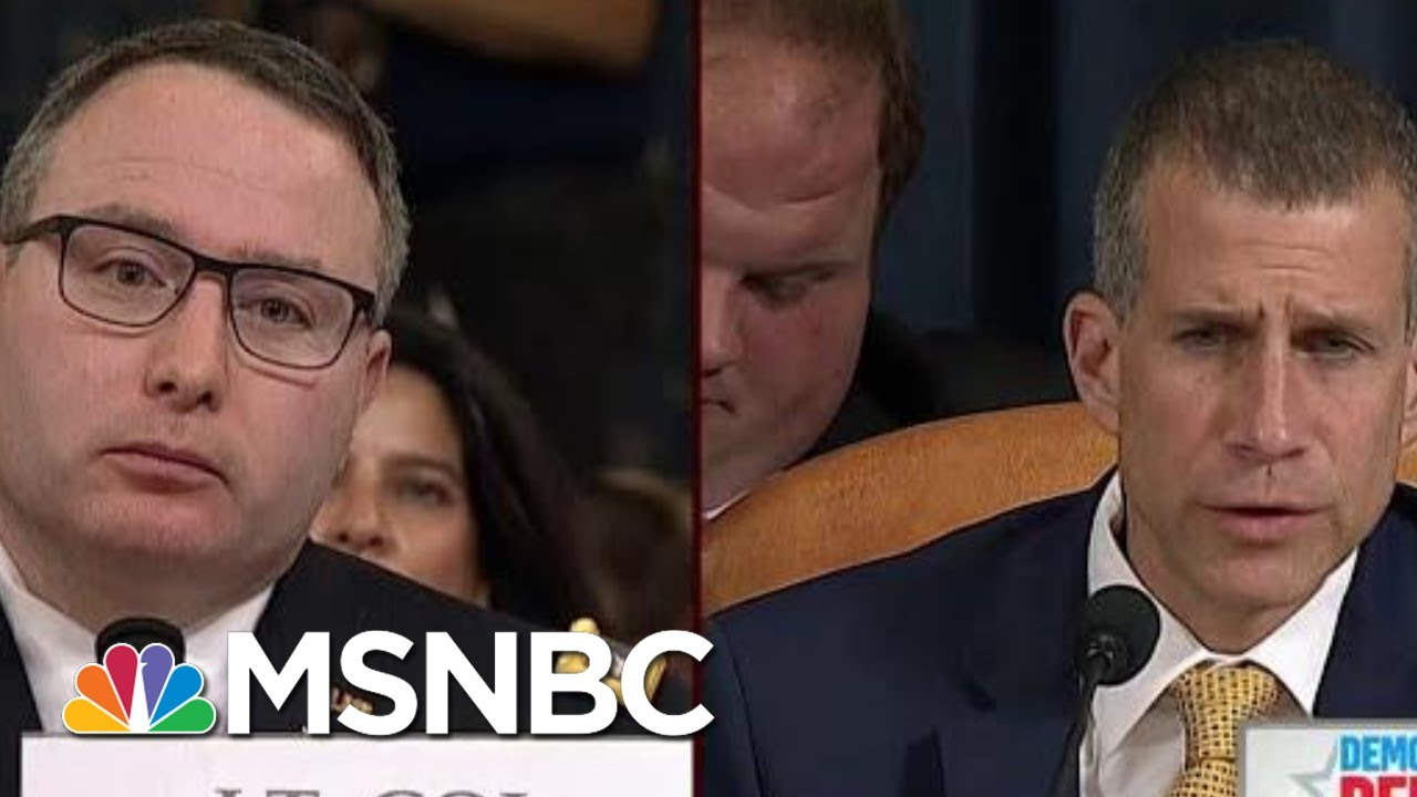 GOP Reaches New Low In Questioning Vindman's Loyalty | Morning Joe | MSNBC 12
