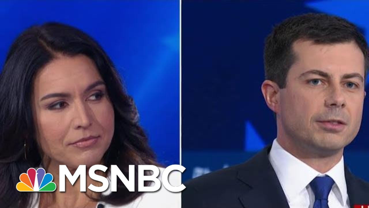 Pete Buttigieg And Tulsi Gabbard Call Each Other Out Over Inexperience | MSNBC 6