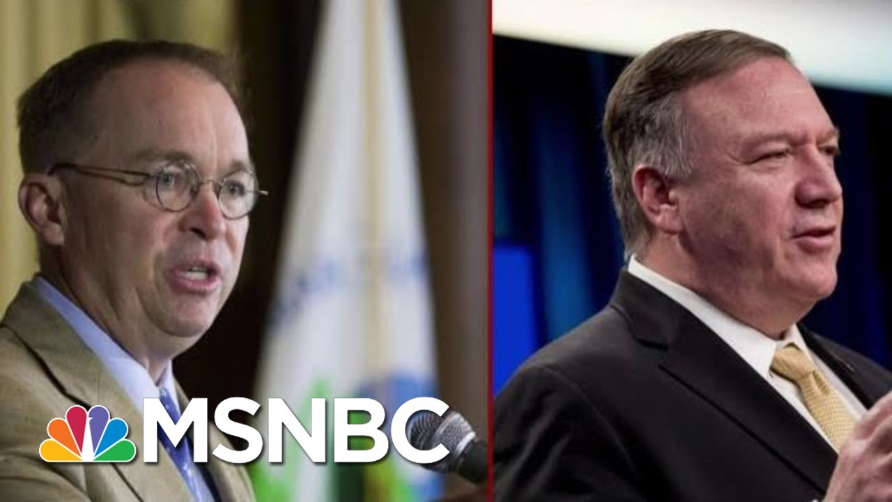 Two Central Figures Face New Scrutiny In The Impeachment Inquiry | Deadline | MSNBC 3