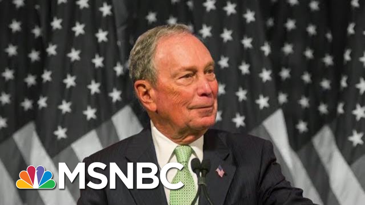 Reporter To Billionaire Dem Bloomberg: Are You Trying To Buy The Presidency? | The 11th Hour | MSNBC 4