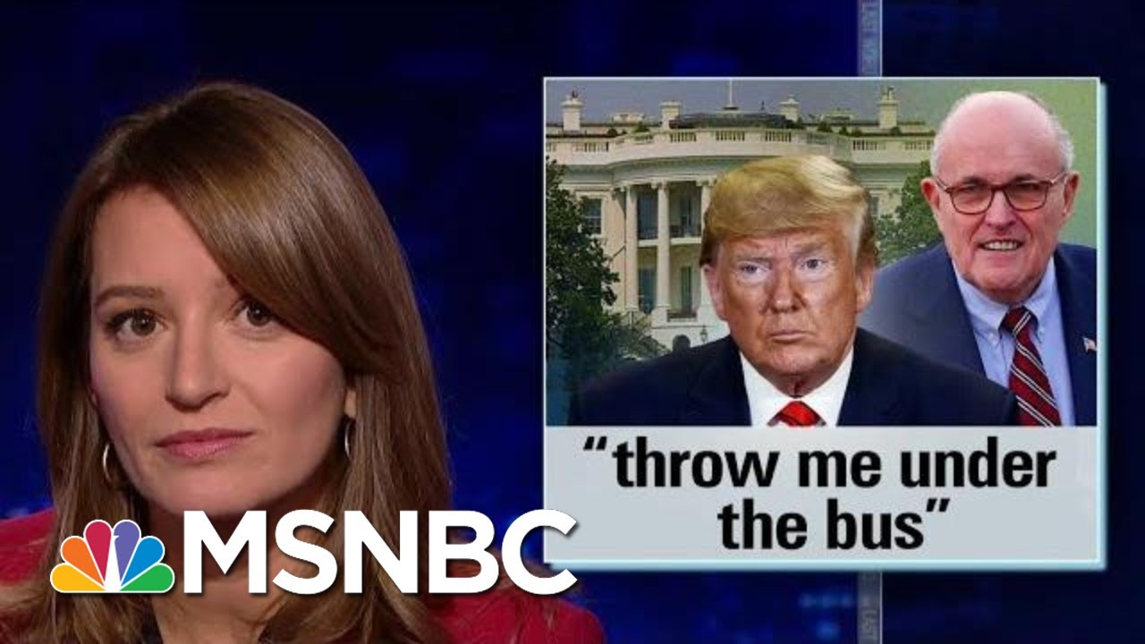 Trump Throws Rudy Giuliani Under The Bus With New Ukraine Comments | The Last Word | MSNBC 5