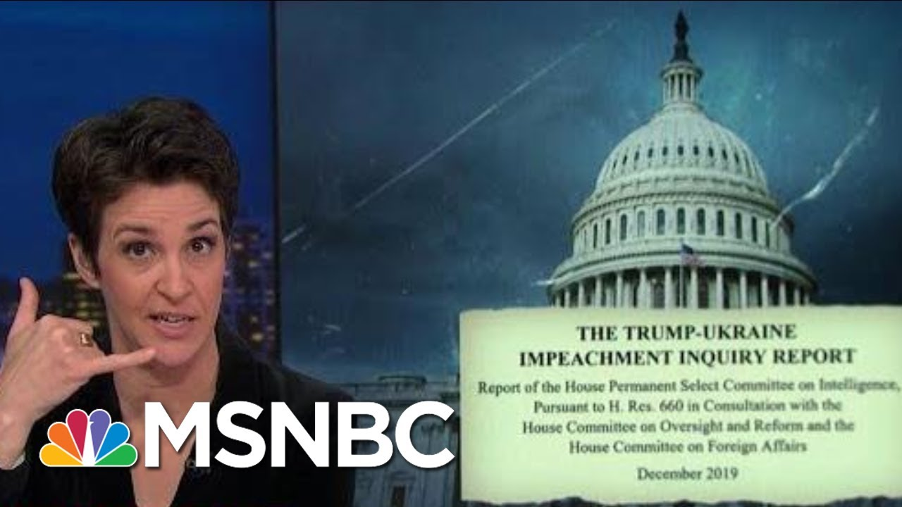Impeachment Report Reveals Unexpected Calls Between Giuliani, OMB | Rachel Maddow | MSNBC 2