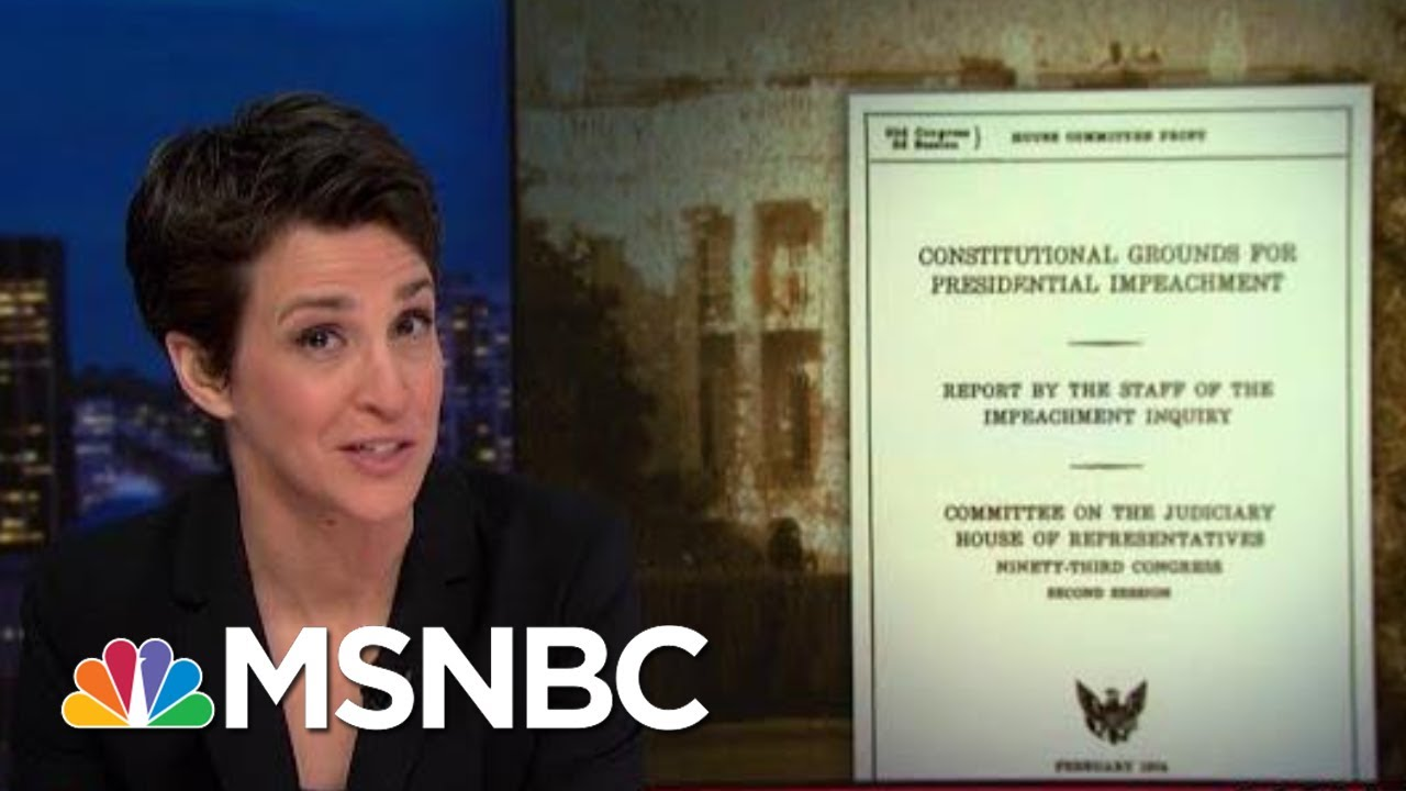 Impeachment Hearing Takes Vital Step Of Consulting Constitution | Rachel Maddow | MSNBC 7