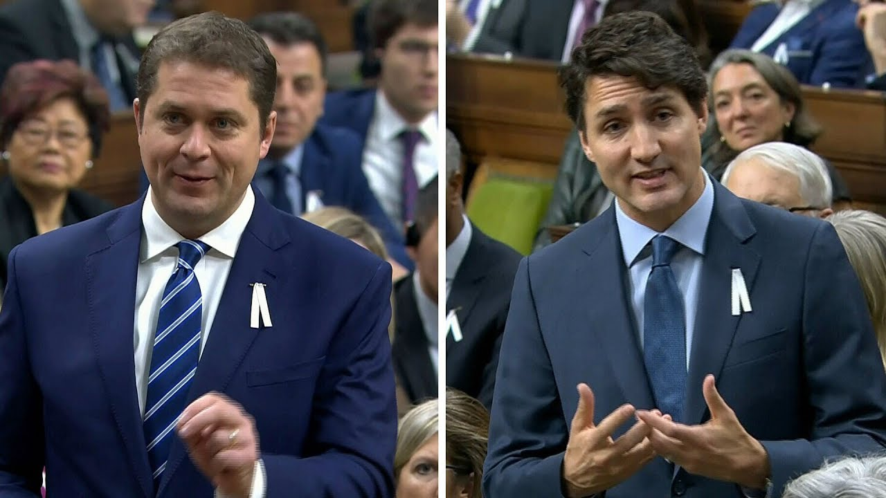 Prime Minister Trudeau and Andrew Scheer spar in first question period after election 1