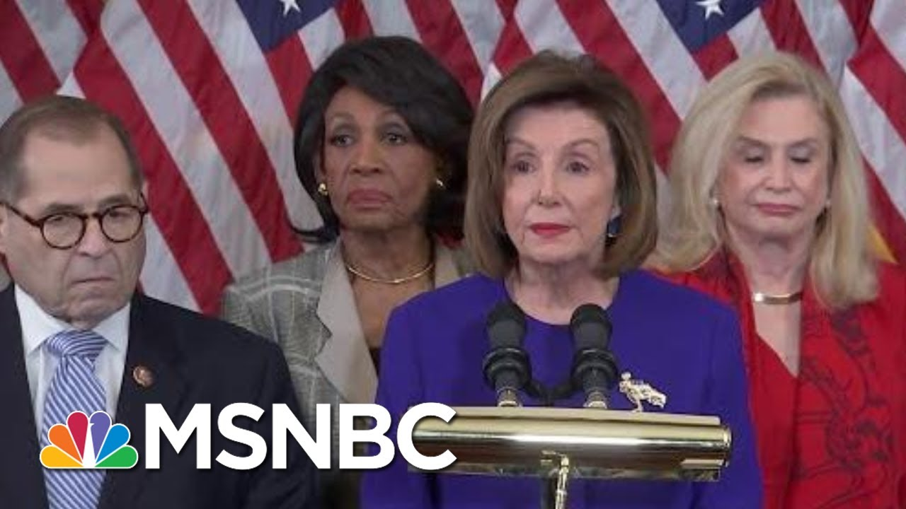 House Dems Charge Trump With 'High Crimes And Misdemeanors' In Two Articles Of Impeachment | MSNBC 4