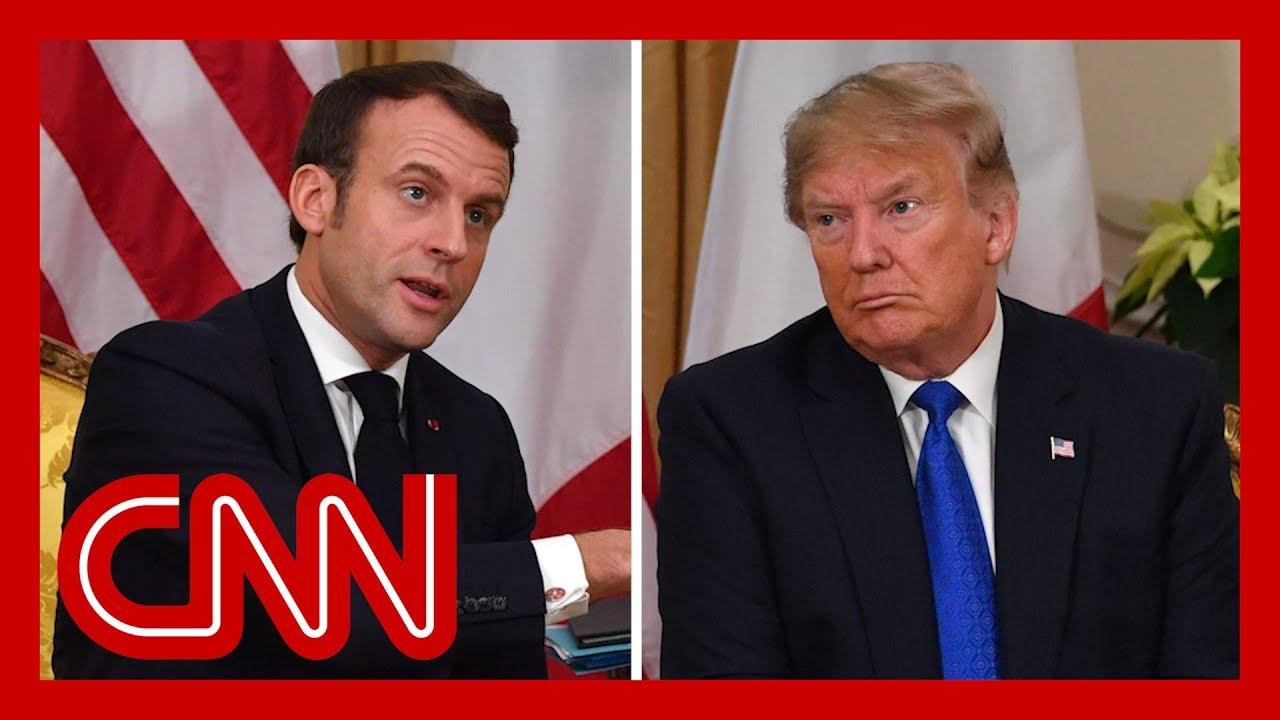 Trump and Macron clash during NATO summit meeting 8
