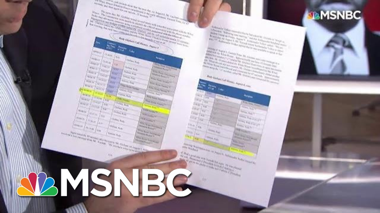 Call Logs Between Rudy Giuliani, Budget Office Revealed In Impeachment Report | Katy Tur | MSNBC 1